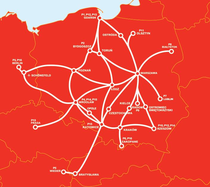 автобусные соединения в Польше