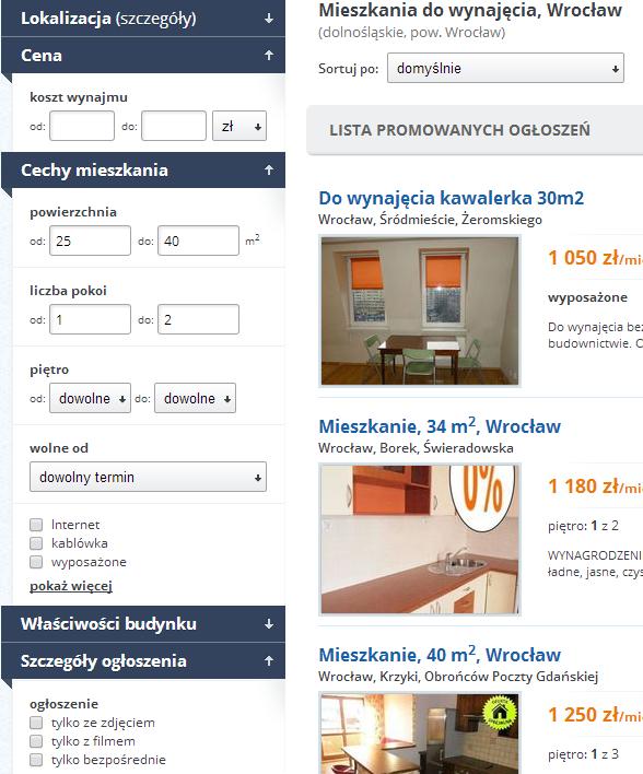 Поиск и аренда квартиры в Польше