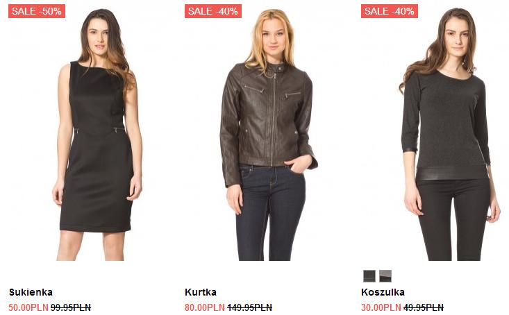 межсезонная распродажа в польском магазине женской одежды orsay