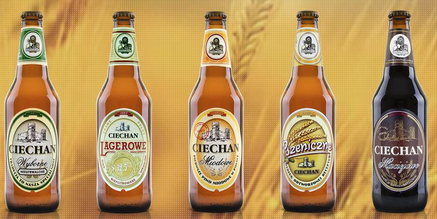 все сорта польского пива из пивоварни цехан Ciechan