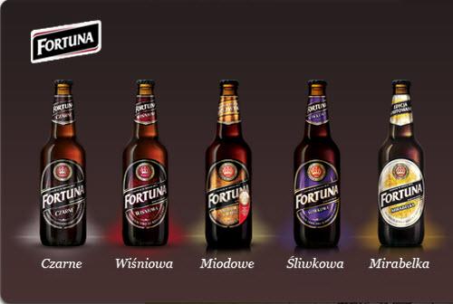 все сорта польского пива из пивоварни fortuna