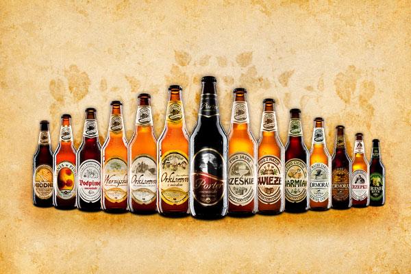 все сорта польского пива из пивоварни kormoran