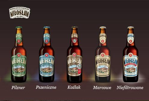все сорта польского пива из пивоварни miłosław